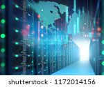 server room 3d illustration... | Shutterstock . vector #1172014156