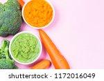 vegetable puree  carrots ...   Shutterstock . vector #1172016049