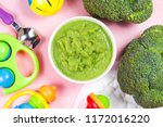 broccoli pureed supplementary...   Shutterstock . vector #1172016220