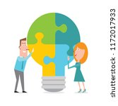 workplace team brainstorming... | Shutterstock .eps vector #1172017933