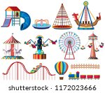 a set of theme park rides... | Shutterstock .eps vector #1172023666