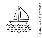 sail boat icon vector art... | Shutterstock .eps vector #1172029819