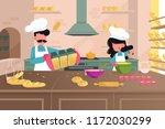 bakery producing bread  rolls ... | Shutterstock .eps vector #1172030299