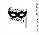 carnival  masquerade mask icon... | Shutterstock .eps vector #1172032936