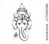ganesha the lord of wisdom... | Shutterstock .eps vector #1172034586