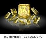 beautiful gems on black...   Shutterstock . vector #1172037340