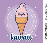 kawaii ice cream icon | Shutterstock .eps vector #1172037763