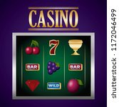 casino related icons | Shutterstock .eps vector #1172046499