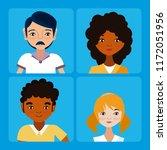 young people cartoons   Shutterstock .eps vector #1172051956