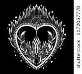 sacred holy heart jesus.... | Shutterstock .eps vector #1172057770