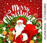 Santa Claus Greeting Card Of...