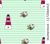 marine seamless pattern with a... | Shutterstock .eps vector #1172066413