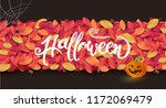 happy halloween calligraphy... | Shutterstock .eps vector #1172069479