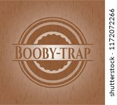 booby trap vintage wood emblem | Shutterstock .eps vector #1172072266
