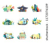 education and study learning... | Shutterstock .eps vector #1172076109