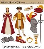 renaissance century european... | Shutterstock .eps vector #1172076940