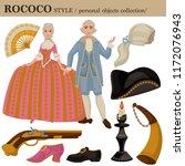 rococo or 18 century european... | Shutterstock .eps vector #1172076943