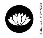 lotus icon in black circle...