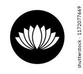 lotus icon in black circle on...