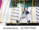 young boy taking the challenge... | Shutterstock . vector #1172077960