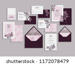 big set of wedding invitation... | Shutterstock .eps vector #1172078479