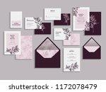 big set of wedding invitation...   Shutterstock .eps vector #1172078479