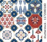azulejio tiles collection.... | Shutterstock .eps vector #1172080180