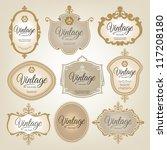 vintage labels | Shutterstock .eps vector #117208180