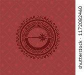 laser icon inside red emblem.... | Shutterstock .eps vector #1172082460