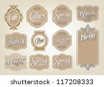 calligraphic vector sign and... | Shutterstock .eps vector #117208333