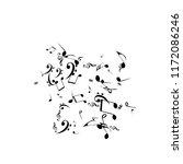 musical signs. modern... | Shutterstock .eps vector #1172086246