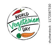 world vegetarian day poster. | Shutterstock .eps vector #1172087530