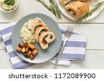 chicken stuffed with spinach... | Shutterstock . vector #1172089900