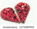 broken heart shaped chocolate... | Shutterstock . vector #1172089903