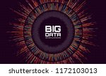 abstract big data visualization.... | Shutterstock .eps vector #1172103013