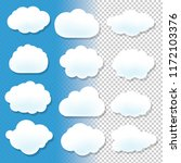 cloud icons with blue and...   Shutterstock . vector #1172103376