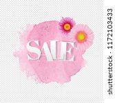 sale poster gerber transparent...   Shutterstock . vector #1172103433