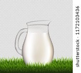 jug with grass border...   Shutterstock . vector #1172103436