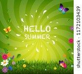 hello summer poster    Shutterstock . vector #1172103439