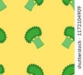 hand drawn vector broccoli... | Shutterstock .eps vector #1172104909