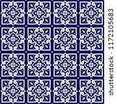 italian tile pattern vector... | Shutterstock .eps vector #1172105683