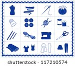 sewing tools  fashion model ... | Shutterstock .eps vector #117210574