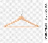 wooden hanger isolated... | Shutterstock .eps vector #1172107456