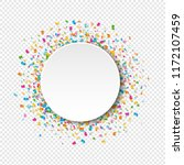 white banner with confetti... | Shutterstock .eps vector #1172107459