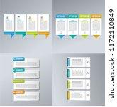 infographic set. business... | Shutterstock .eps vector #1172110849