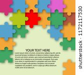 puzzle color background with... | Shutterstock .eps vector #1172117530