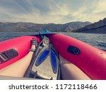 enjoying summer while paddling... | Shutterstock . vector #1172118466