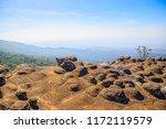 beautiful sunset at mountain...   Shutterstock . vector #1172119579