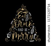 eat drink and be merry  hand... | Shutterstock .eps vector #1172120716