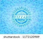 blizzard sky blue mosaic emblem   Shutterstock .eps vector #1172120989